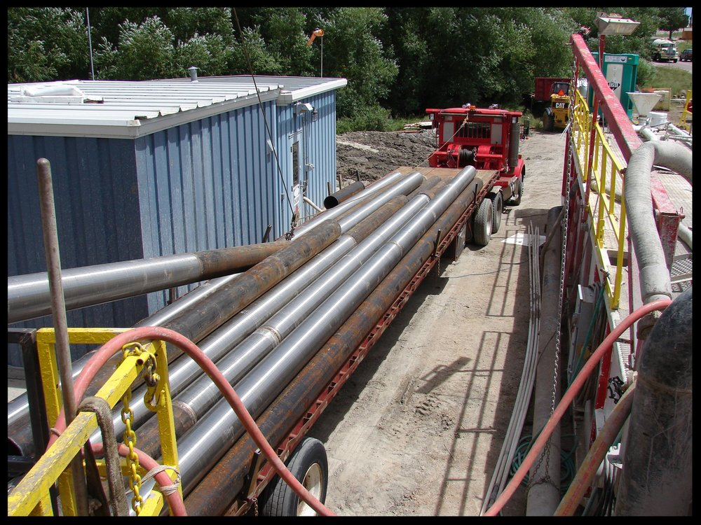Pipe rack for production well