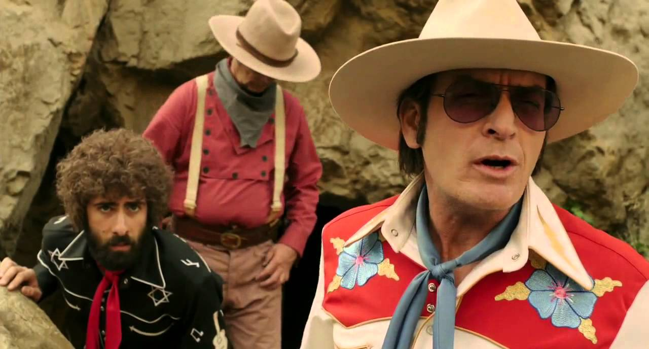 Jason Schwartzman, Bill Murray and Charlie Sheen in A Glimpse Inside the Mind of Charles Swan III