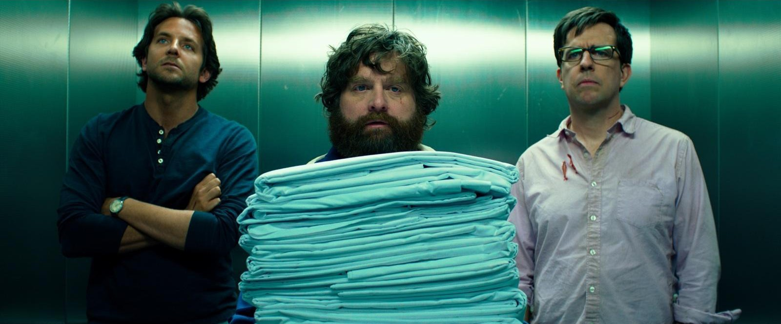 Bradley Cooper, Zack Galifianakis and Ed Helms in The Hangover Part III
