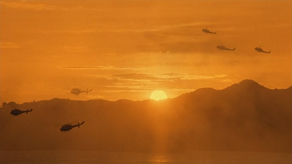 A sunset in Apocalypse Now