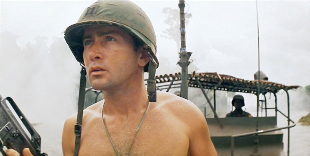 Martin Sheet on the patrol boat in Apocalypse Now