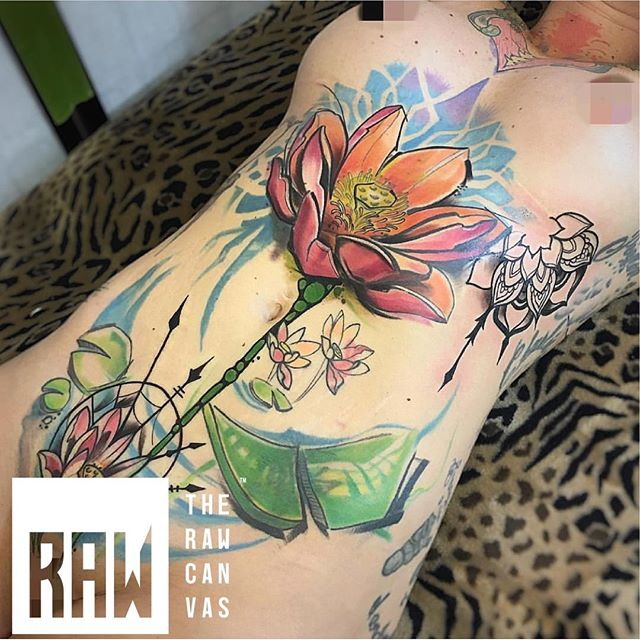 RAW: Tattoo. Beautiful work from artists @robbie_campbell_tattoos done here at @therawcanvas in @downtowngj @westslopebestslope