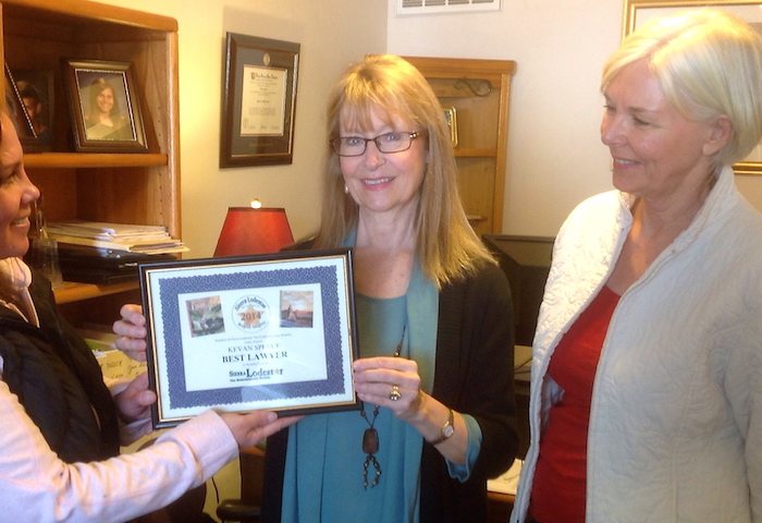 "Kevan Spence receives ""Best Social Security Claim Lawyer"" award from the readers of the Sierra Lodestar."