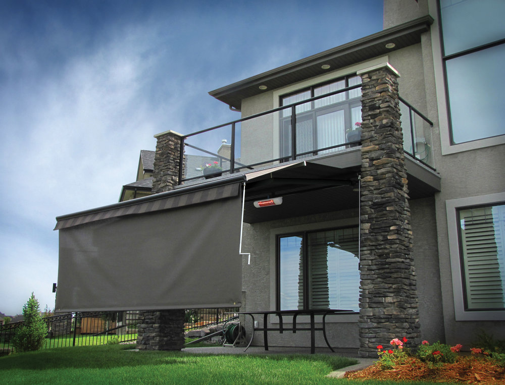 Patio awning with screen 8