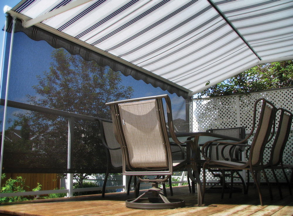 Patio awning with screen 4