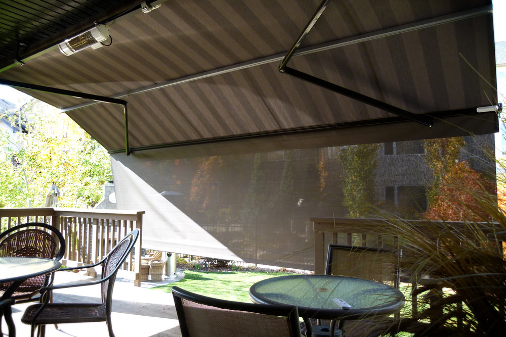 Patio awning with screen 7