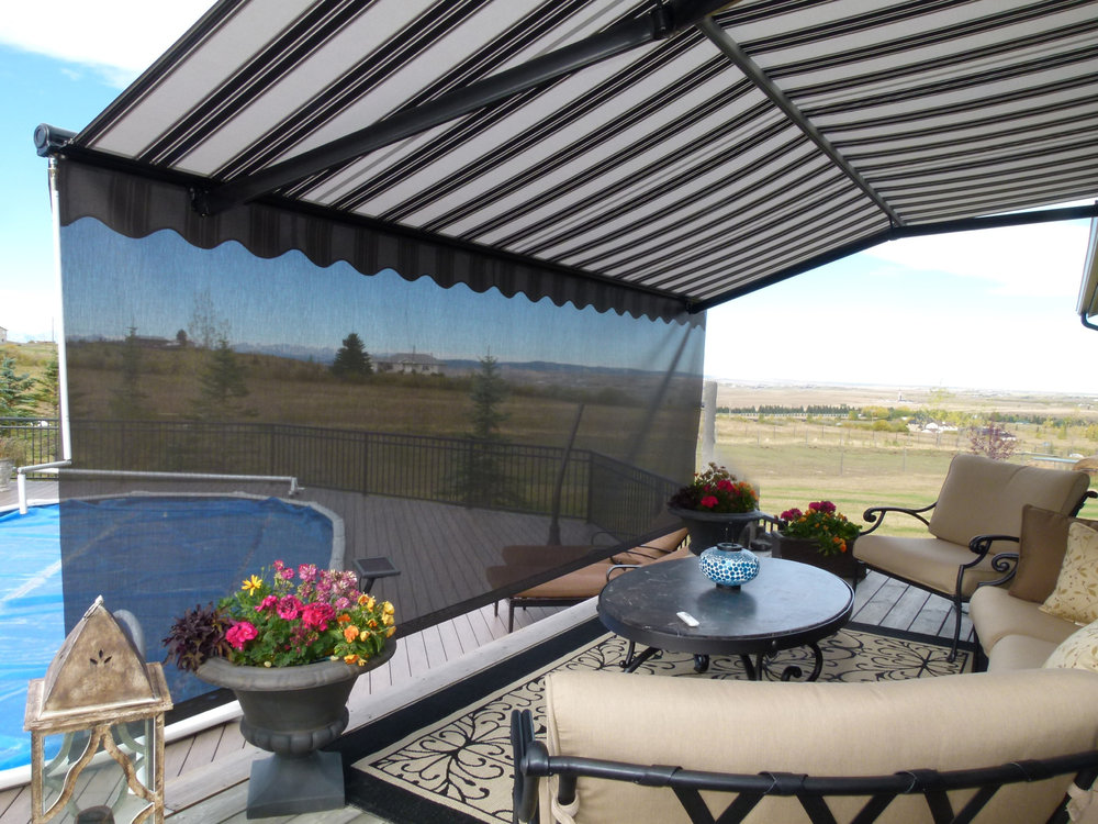 Patio awning with screen 5