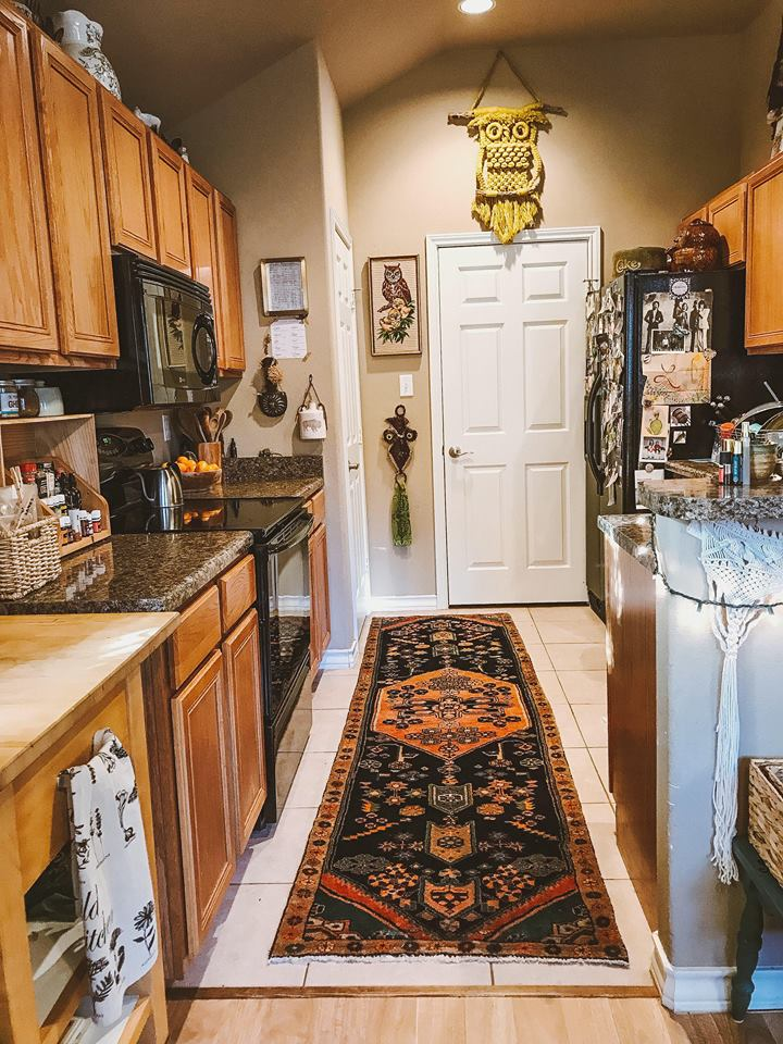 A boho kitchen rug