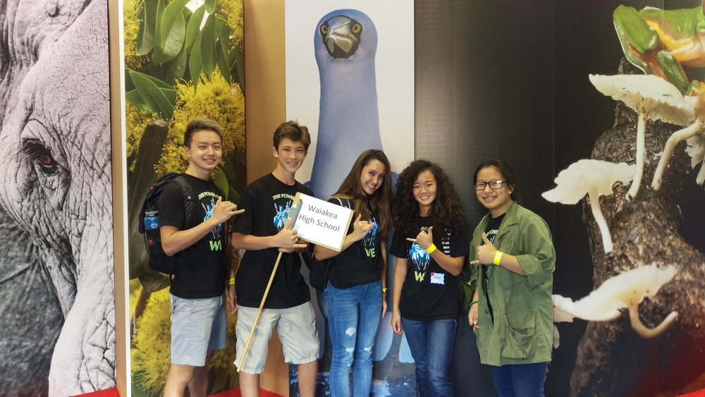 Public Services Academy students at the International Union for Conservation of Nature (IUCN) Conference in Honolulu, 2016.
