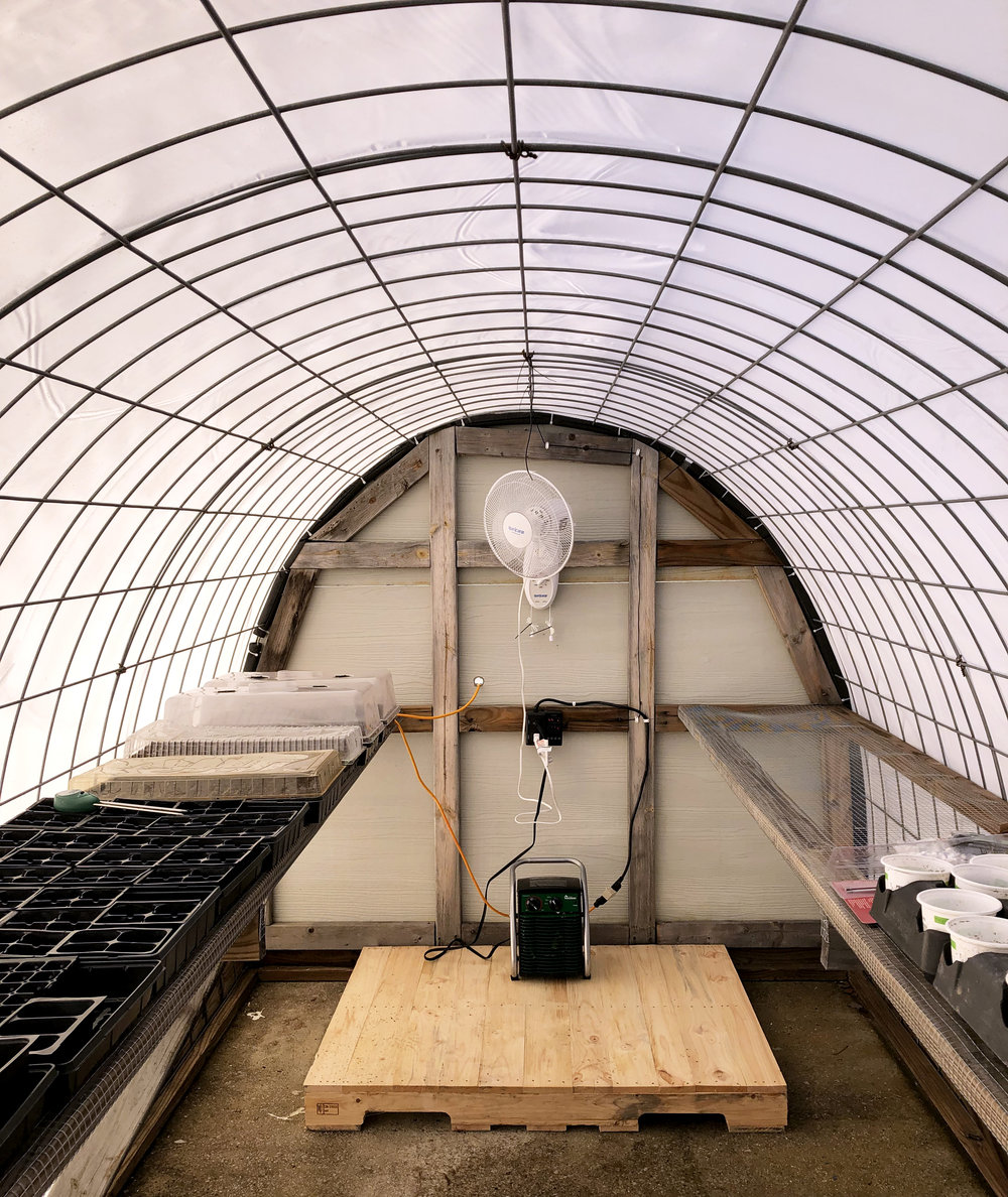 Greenhouse Renovations at DuBose garden