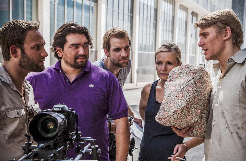 On set, 2012.
