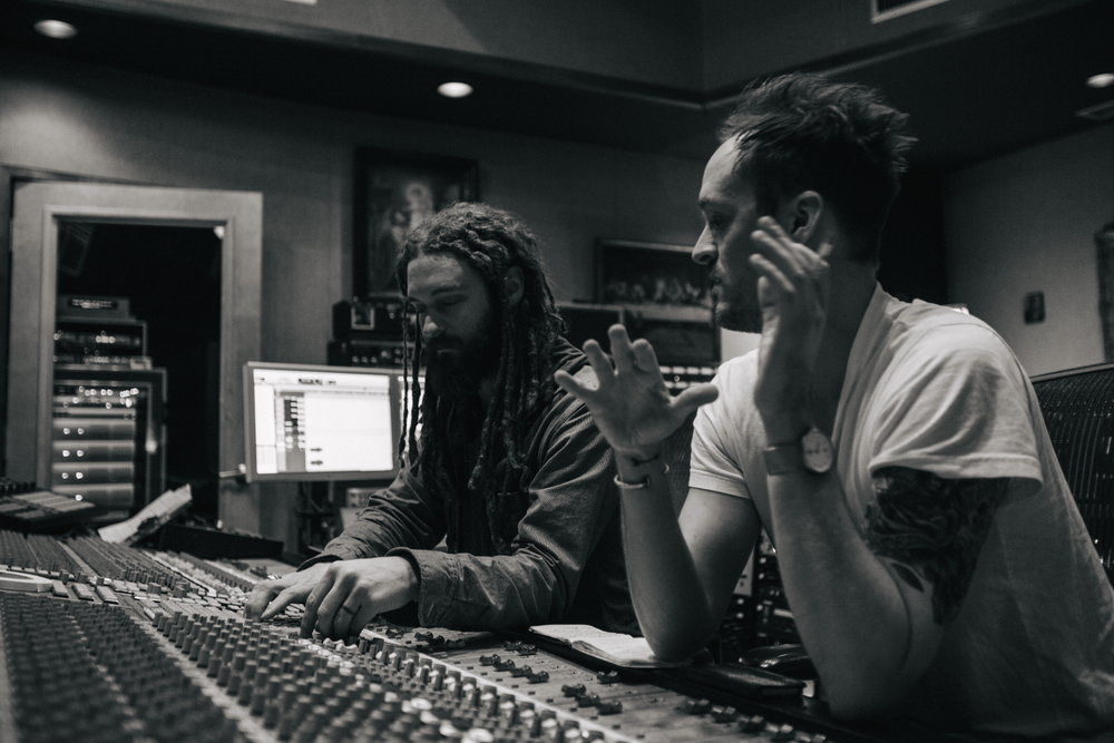 JT Daly and Paul Moak hard at work in the studio. Photo Credit:  Cale Glendening