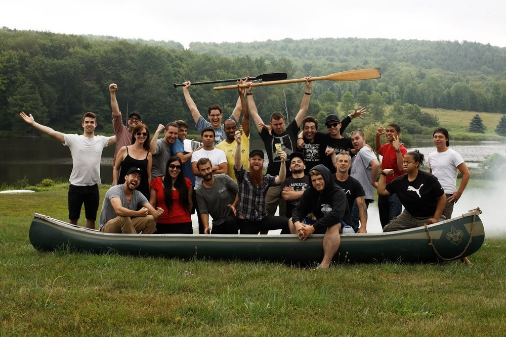 Cast and crew of  Boy Scouts  promo shoot, featured on Andy's  Client Blog . Photo credit: Joey L.