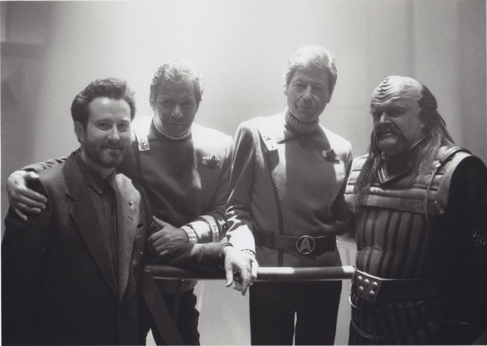 Ralph (far left) on the set of Star Trek 6, The Undiscovered Country.