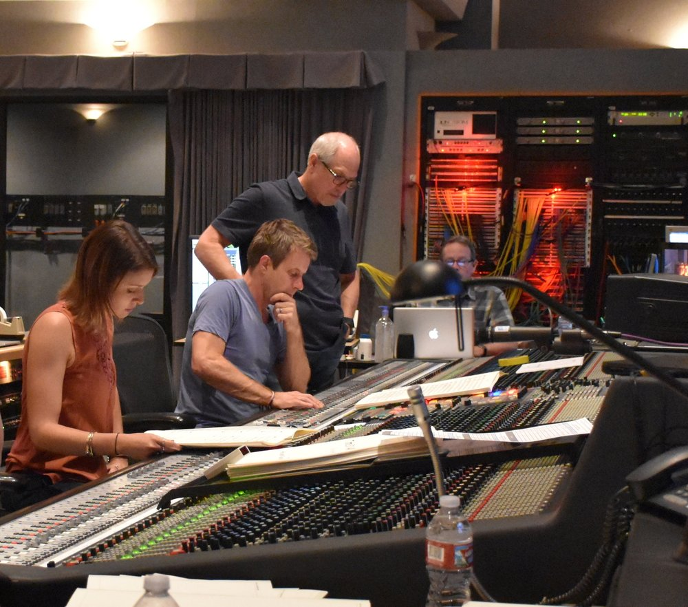 "Recording the score to ""Live By Night"" with Harry Gregson-Williams and Dennis Sands (Sony Pictures)"