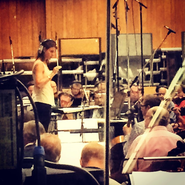 "Conducting Harry Gregson-Williams' score for ""The Martian"" at Abbey Road Studios, London"