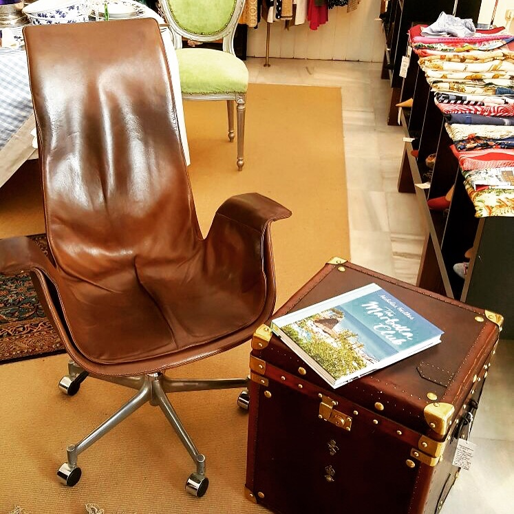 1960s Leather Tulip Chair from Fabricius & kastholm