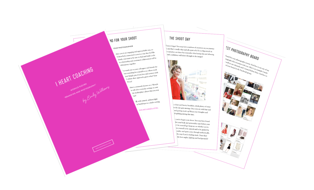 Corresponding worksheets, reflections and prompts that will facilitate your transformation as you are learning and applying these new concepts to your life. -