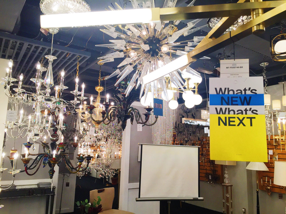 Beautiful lighting at What's New What's Next.