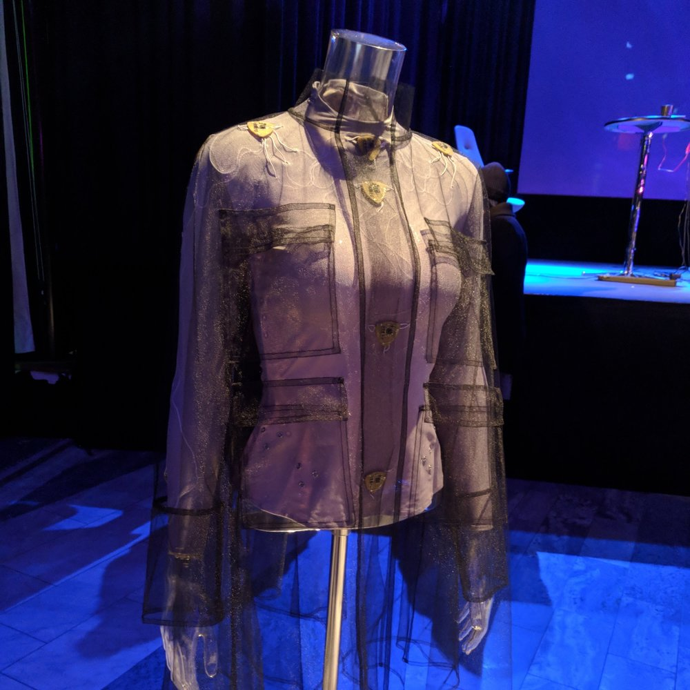 "Our CEO, Kit, attended the 3D textiles workshop, facilitated by the duo behind the Embodisuit, which ""receives signals from an IoT platform, allowing the wearer to map personally chosen signals to modular haptic actuators on the body."" ( more info )"
