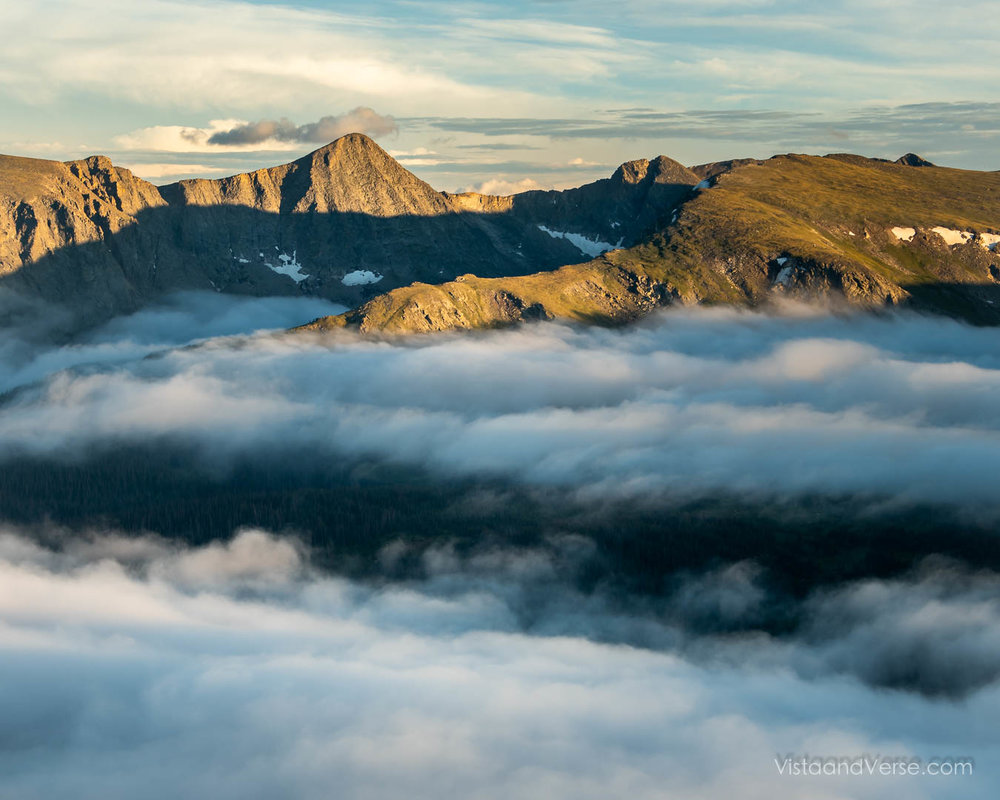 Cloud inversion, Rocky Mountain National Park