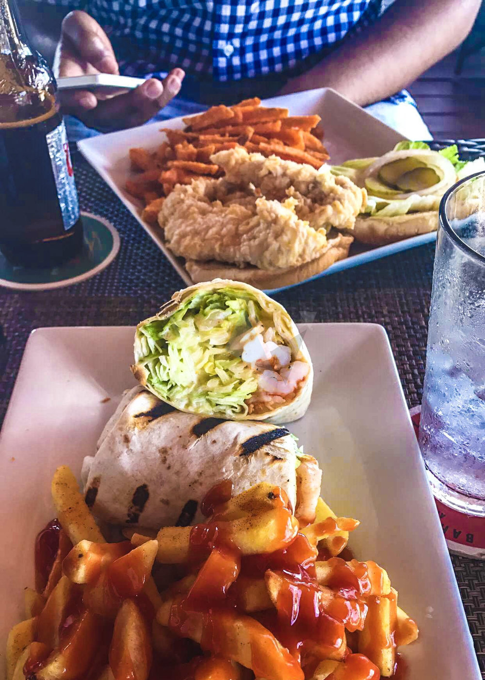 Shrimp Wrap & Fries