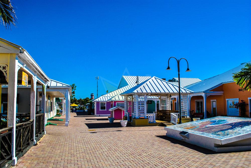 Empty Port Lucaya Marketplace