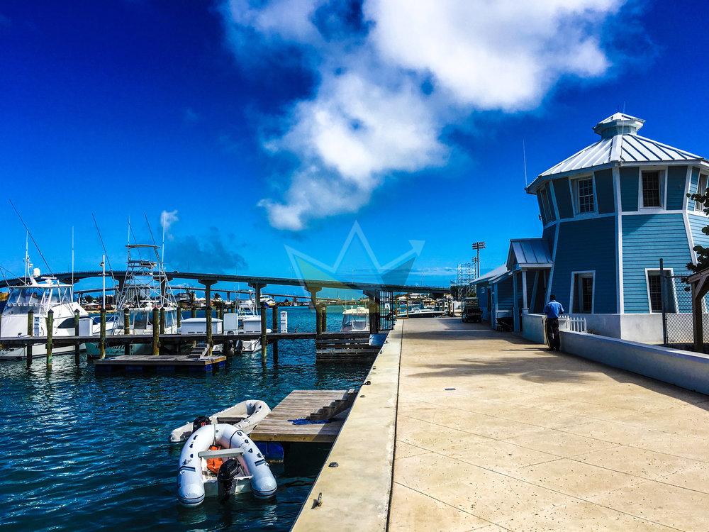 Nassau Harbour with Sir Sidney Poitier Bridge in View