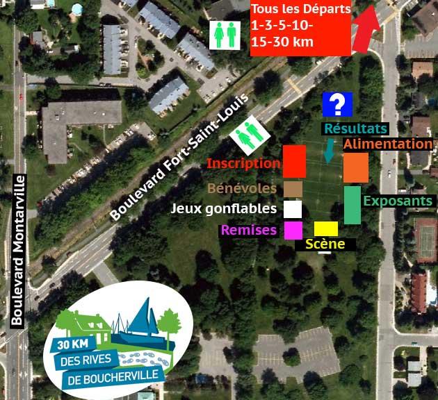 Plan 30km des Rives de Boucherville
