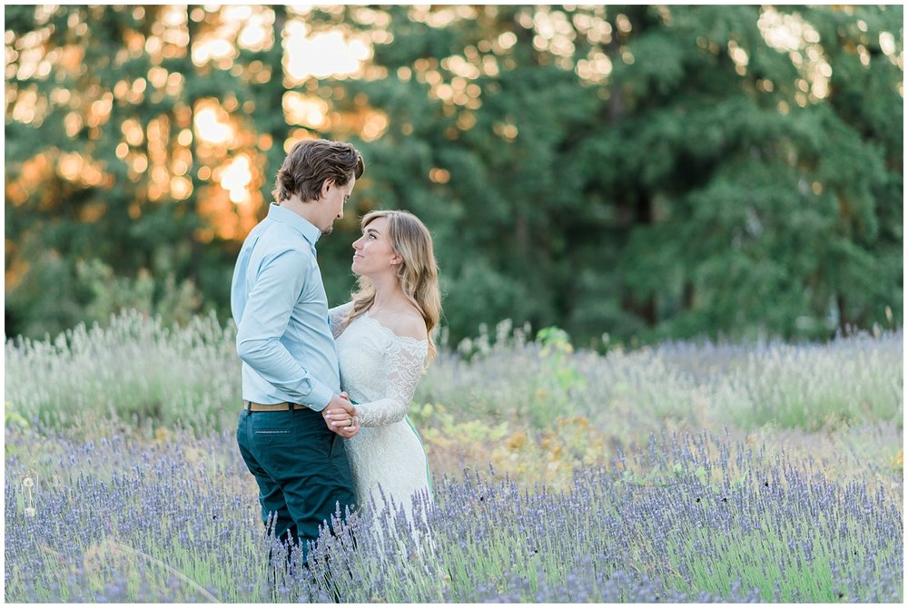Lavender Field Engagement | Janet Lin Photography