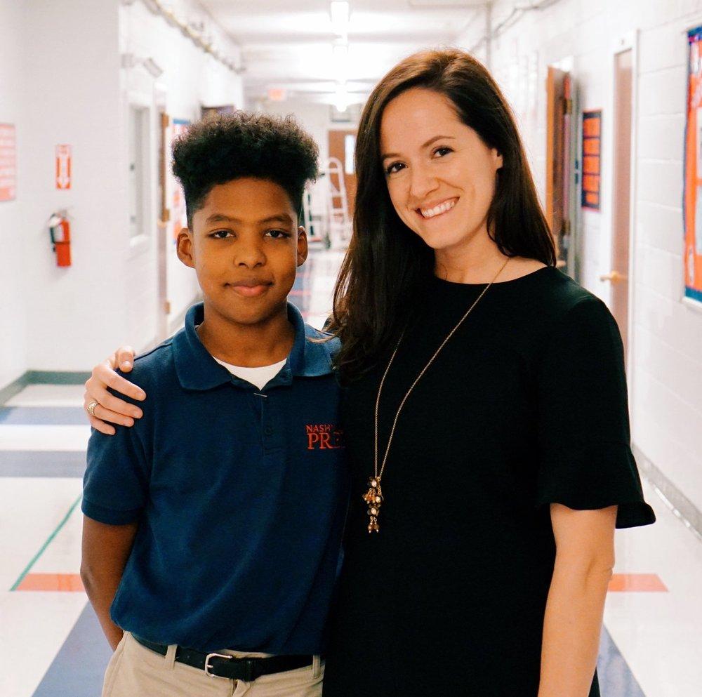 Nashville Prep Scholar & Corinn O'Brien, Nashville Prep's Assistant Principal