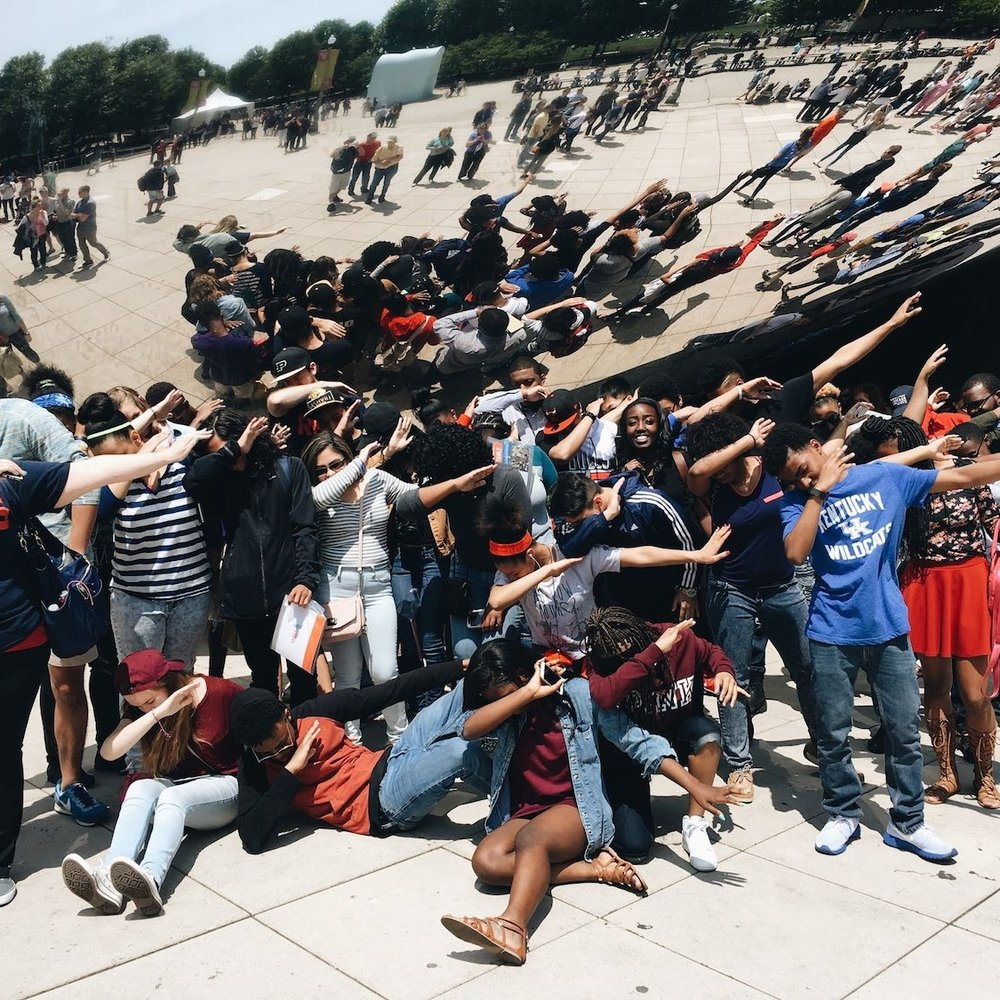 65 ROAD WARRIORS traveled to Chicago because they won our annual Color War