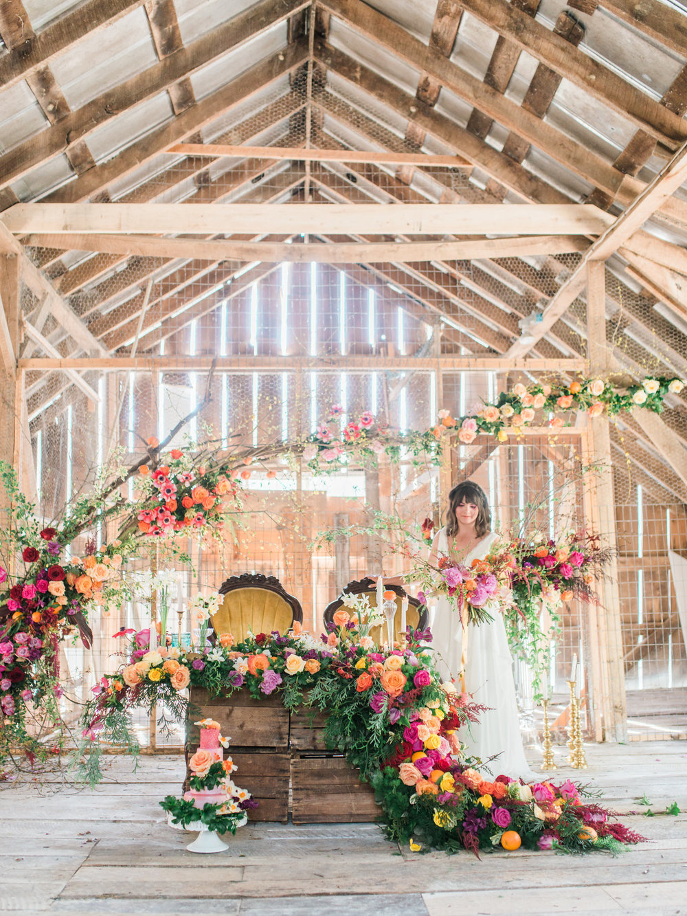 Created by TEXTURE Florals, Layers of Lovely, Wildflowers by Design, Faye & Renee, Cottage Flowers Design, Jig-Bee and Pamela Primrose / Photo: Delaney Dobson Photography