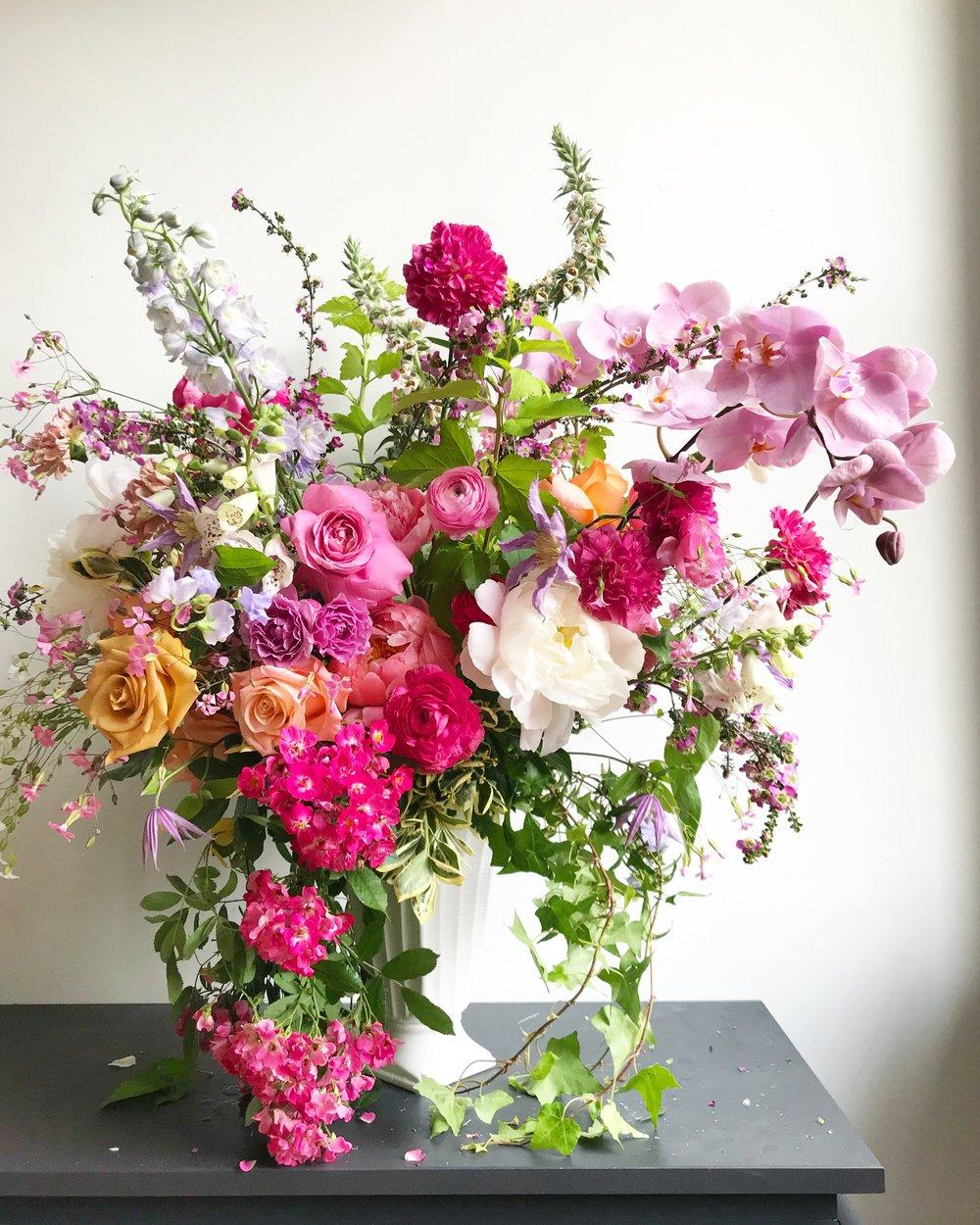Texture Florals Spring Wedding Statement Arrangement_Philadelphia