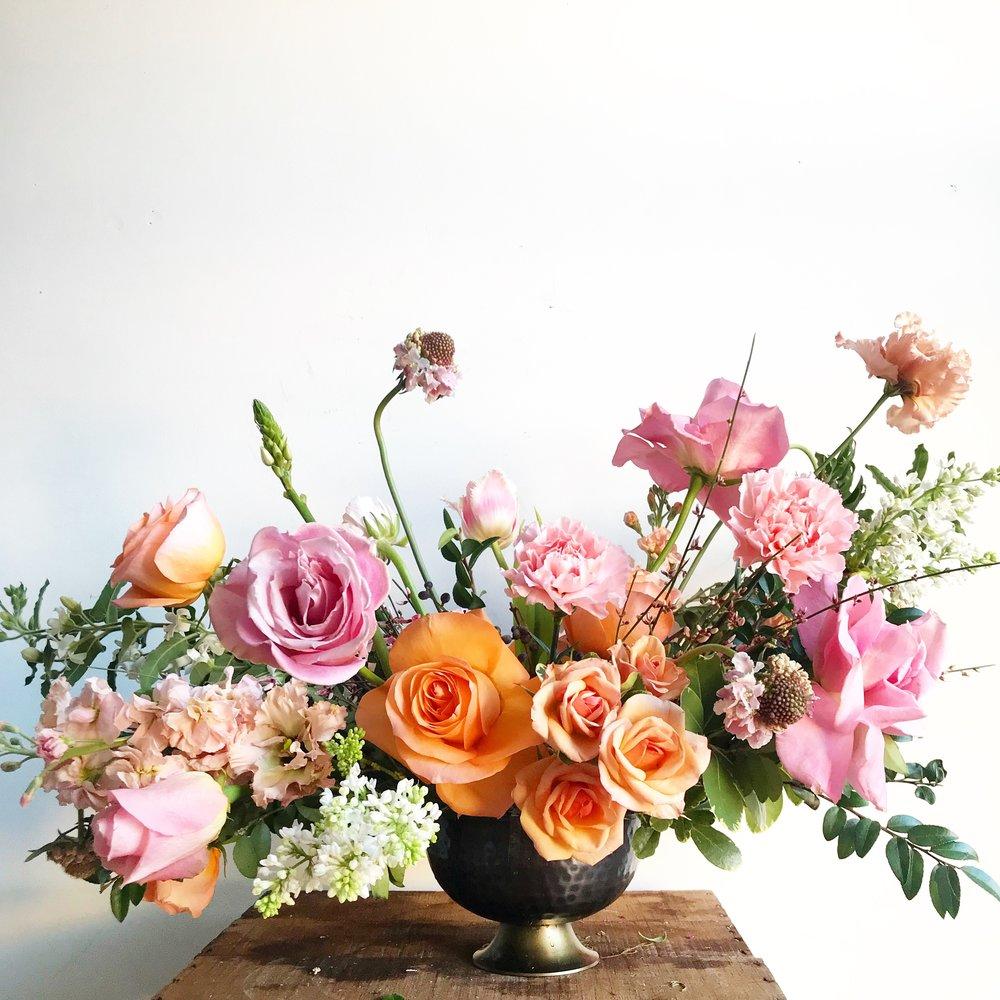 Texture Florals Winter Event Centerpiece_Philadelphia Wedding Magazine Editor's Brunch