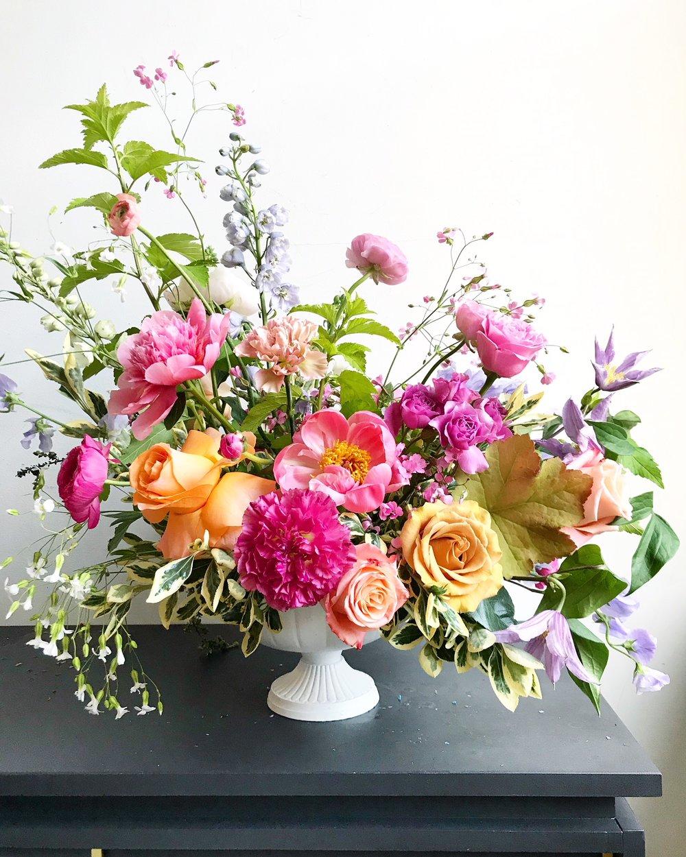 Texture Florals Spring Wedding Centerpiece_Philadelphia