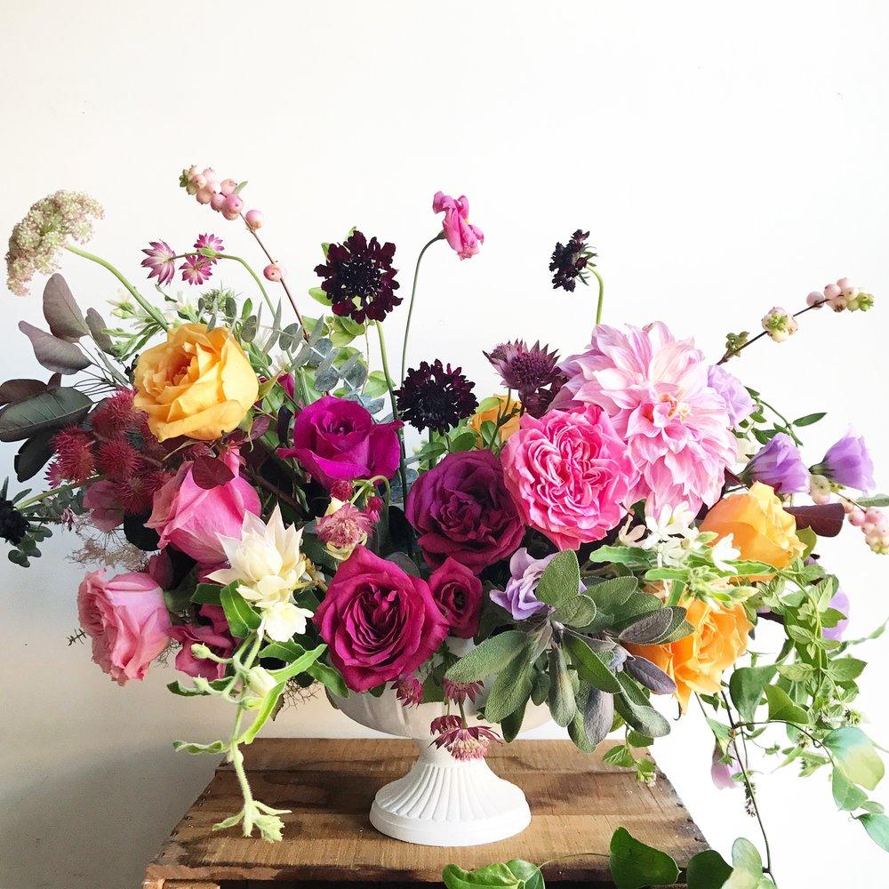 Texture Florals Summer Wedding Statement Arrangement_Philadelphia