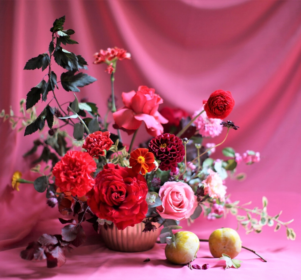 Texture Florals Autumn Wedding Centerpiece_New Liberty Distillery, Philadelphia, PA