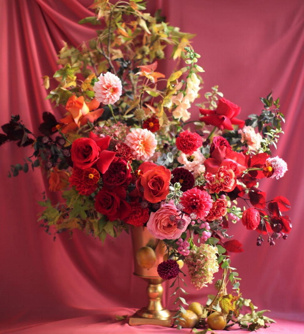 Texture Florals Autumn Wedding Statement Arrangement_New Liberty Distillery, Philadelphia, PA