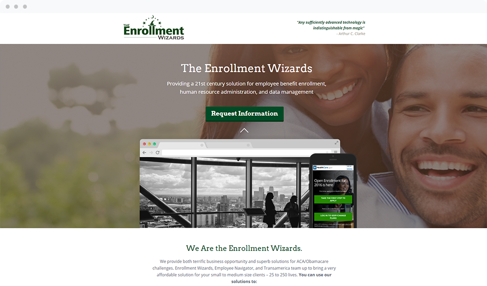 The Enrollment Wizards - Visit Landing Page