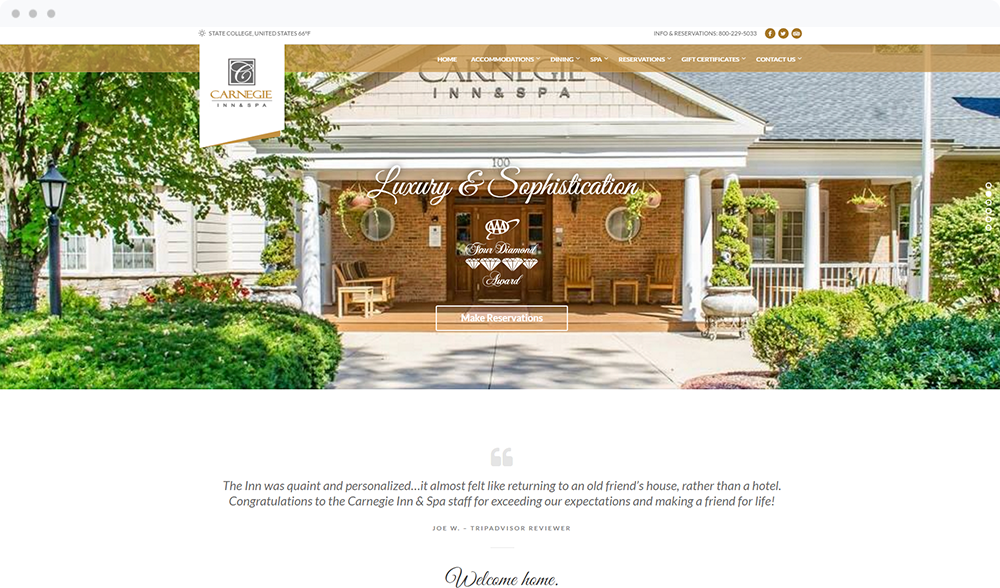 Carnegie Inn & Spa (State College, PA) -  Visit Website