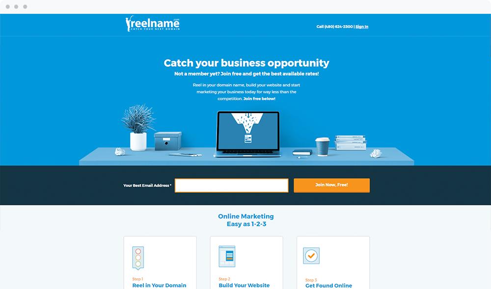 Reel Name -  Visit Landing Page