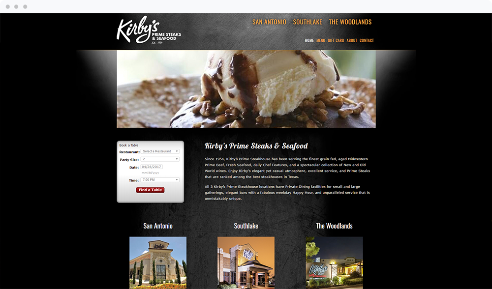 Kirby's Steak House (Texas) - View Website