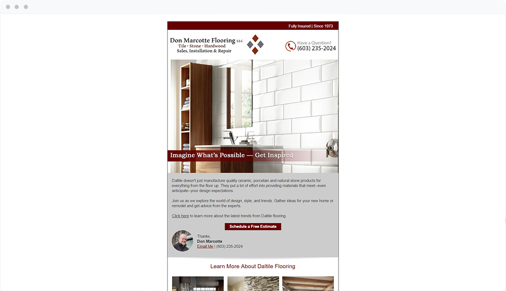Don Marcotte Flooring, LLC (Barrington, NH)- View Email