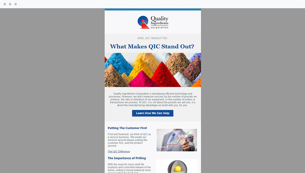 Quality Ingredients Corporation (Burnsville, MN) - View Email