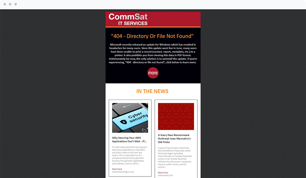 Commsat IT Services (Amesbury, MA) - View Email