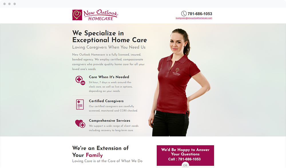 New Outlook Homecare - Visit Landing Page