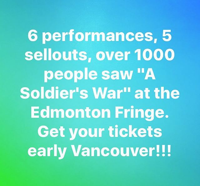 Very excited to be coming to #Vancouver to perform at their #fringe #festival at the #waterfronttheatre on #granvilleisland We open the fringe on Thursday Sept 7 at 5pm! Get your tickets early, we don't want to have people to miss out cause they waited too long. Come help us end this tour on the highest of high notes! And maybe help send us over to the U.K. next year! #vancouverarts #yvrfringe #vancouverfringe #yvrarts #yeg #yegfringe #canada #canadian #canada150 #explorebc #explorevancouver #veterans supporting #woundedwarriorscanada