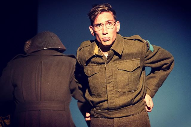 Pull up your pants and get those tickets — A Soldier's War opens in 7 days!  #theatre #yxe #saskatoon #canada #remembrance #canadian @livefivetheatre @ontheboardsyxe @theopenstorefront  Link for tickets in the bio