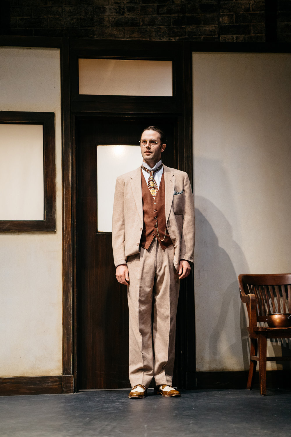 Taylor as Professor Hoffman in INCIDENT AT VICHY